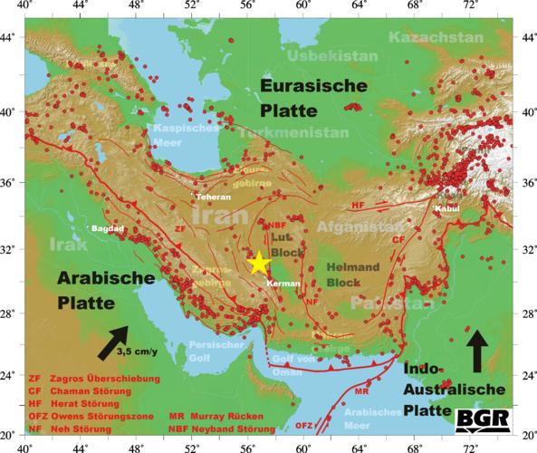 Erdbeben Deutschland Karte.Bgr Seismologie Erdbeben Iran