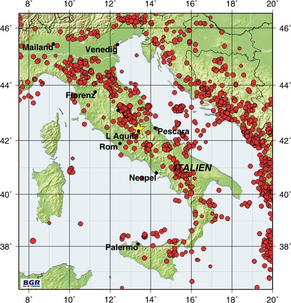 italien karte erdbeben BGR/Seismologie/Erdbeben Italien